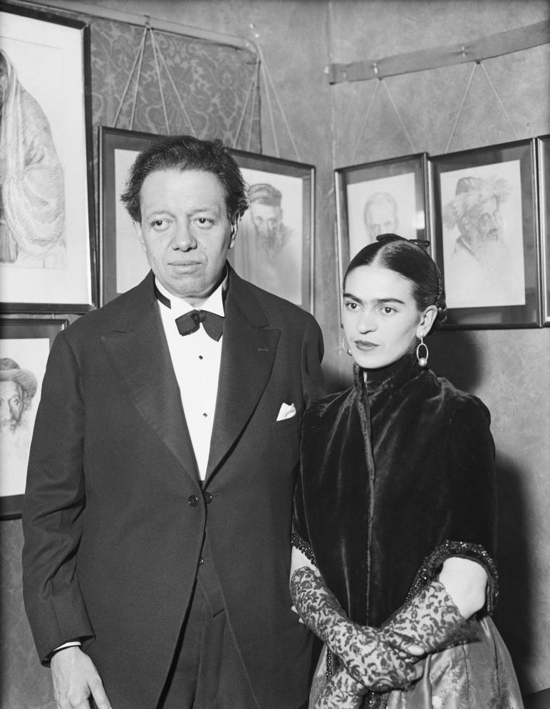 Artists Diego Rivera and Frida Kahlo