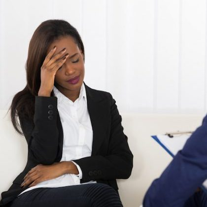 Woman in therapy. Photo: Shutterstock