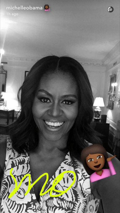 Michelle Obama Joins Snapchat!