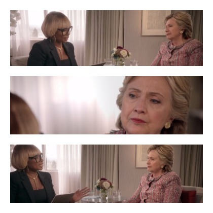 Mary J. Blige Sings To Hilary Clinton
