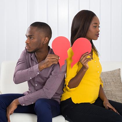 couple arguing, breakup