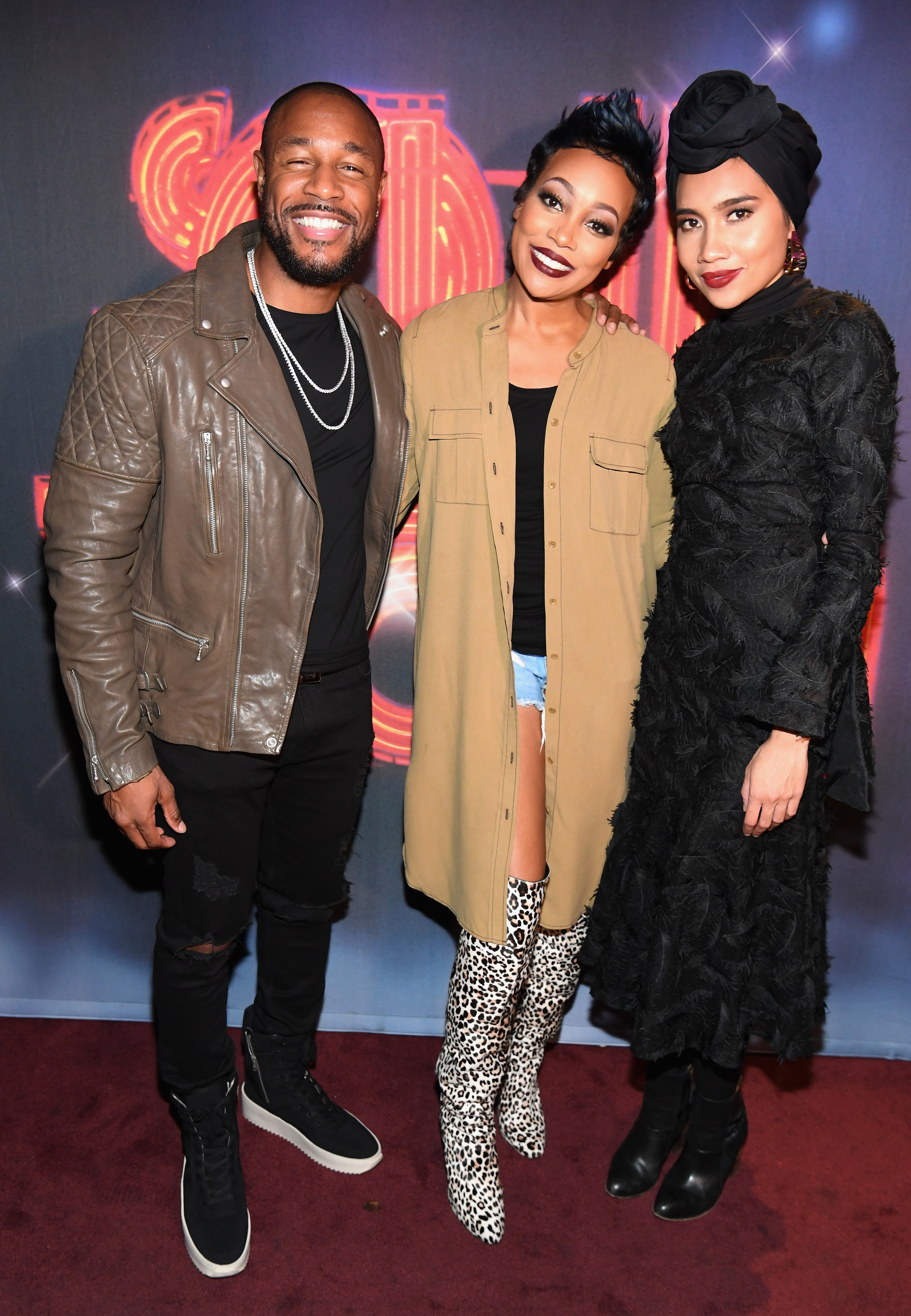 """LAS VEGAS, NV - NOVEMBER 03: (L-R) Singers Tank, Monica and Yuna attend """"Acoustically Speaking Sponsored by Toyota"""" at House of Blues during Soul Train Weekend on November 3, 2016 in Las Vegas, Nevada. (Photo by Paras Griffin/BET/Getty Images for BET)"""