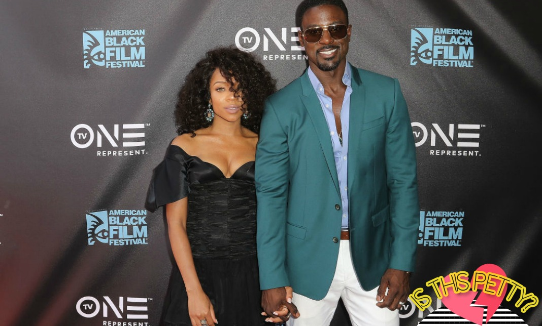Lil Mama Lance Gross holding hands