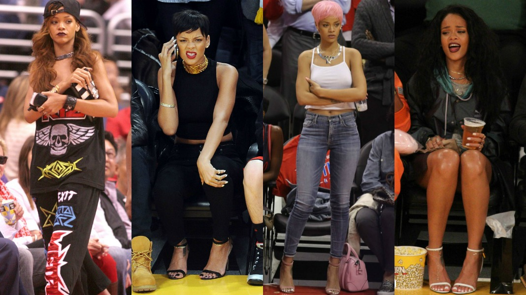Queen Of The Court The Best Of Rihanna S Courtside Fashion Madamenoire
