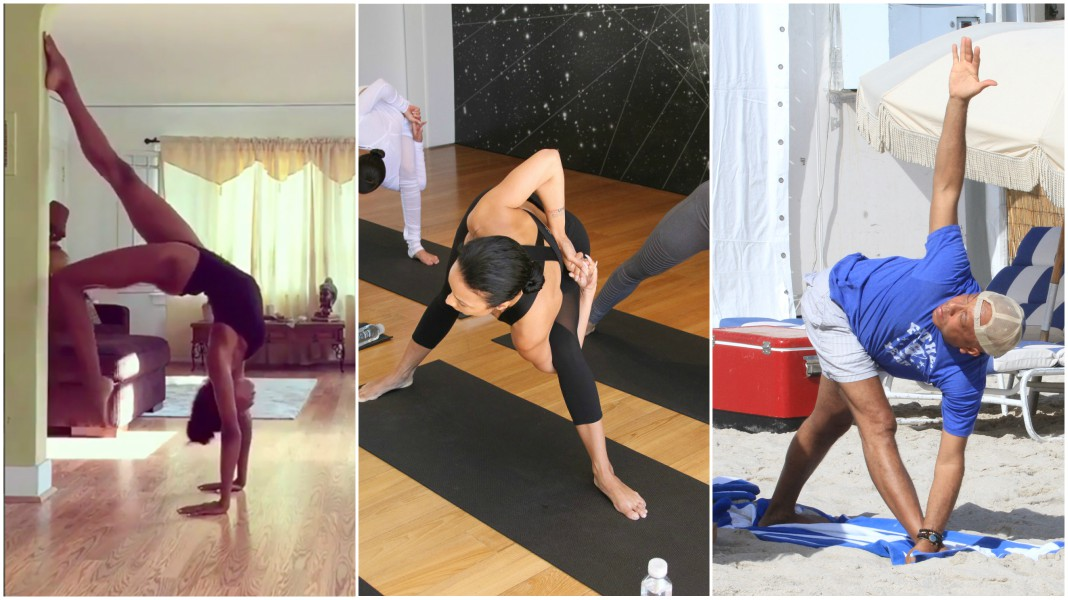 black celebrity yoga