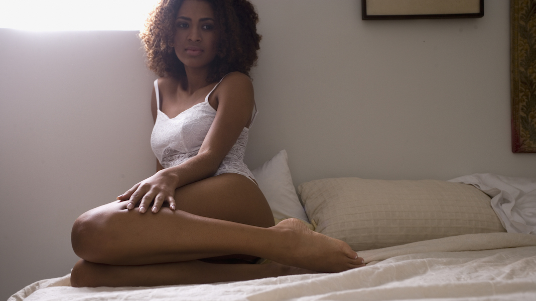 woman in bed after sex