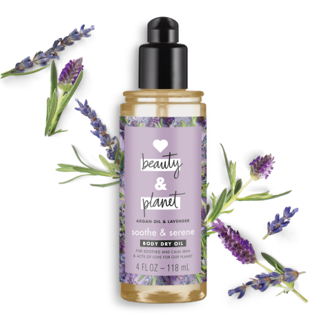 LOVE BEAUTY AND PLANET Argan Oil and Lavender Soothe & Serene Dry Oil