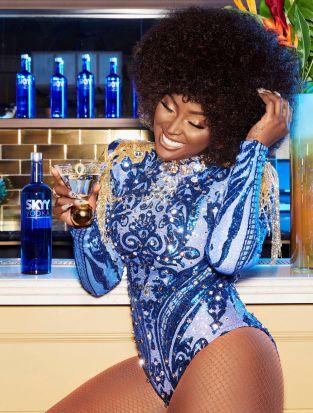 Amara La Negra and Skyy Vodka