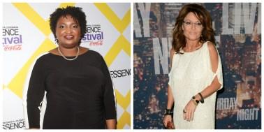 Stacey Abrams, Sarah Palin