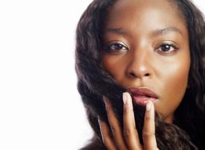 Close-up Beauty Shot of an African Woman