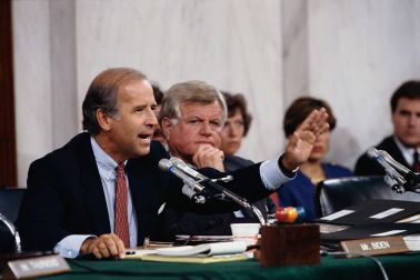 Senators Joseph Biden and Ted Kennedy During the Clarence Thomas Confirmation Hearings