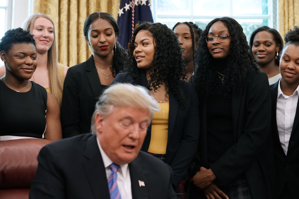 President Donald Trump Welcomes The 2019 NCAA Division I Women's Basketball National Champions Baylor Lady Bears to the White House