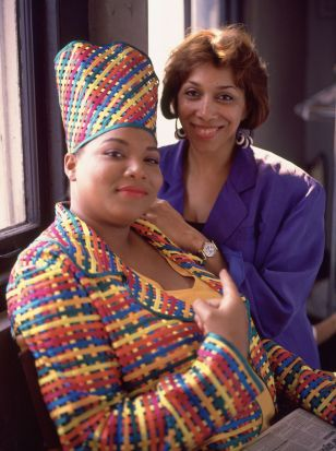 Queen Latifah and Mom Portrait Session