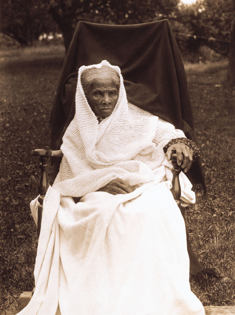 Harriet Tubman (1820-1913), American Abolitionist, Portrait in Rocking Chair at Home, Auburn, New York, USA, 1911