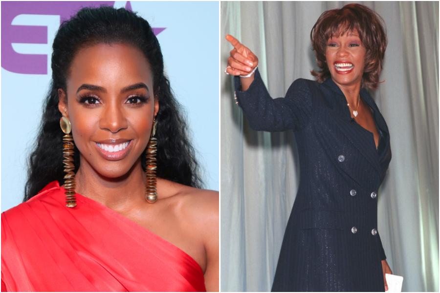 Kelly Rowland and Whitney Houston