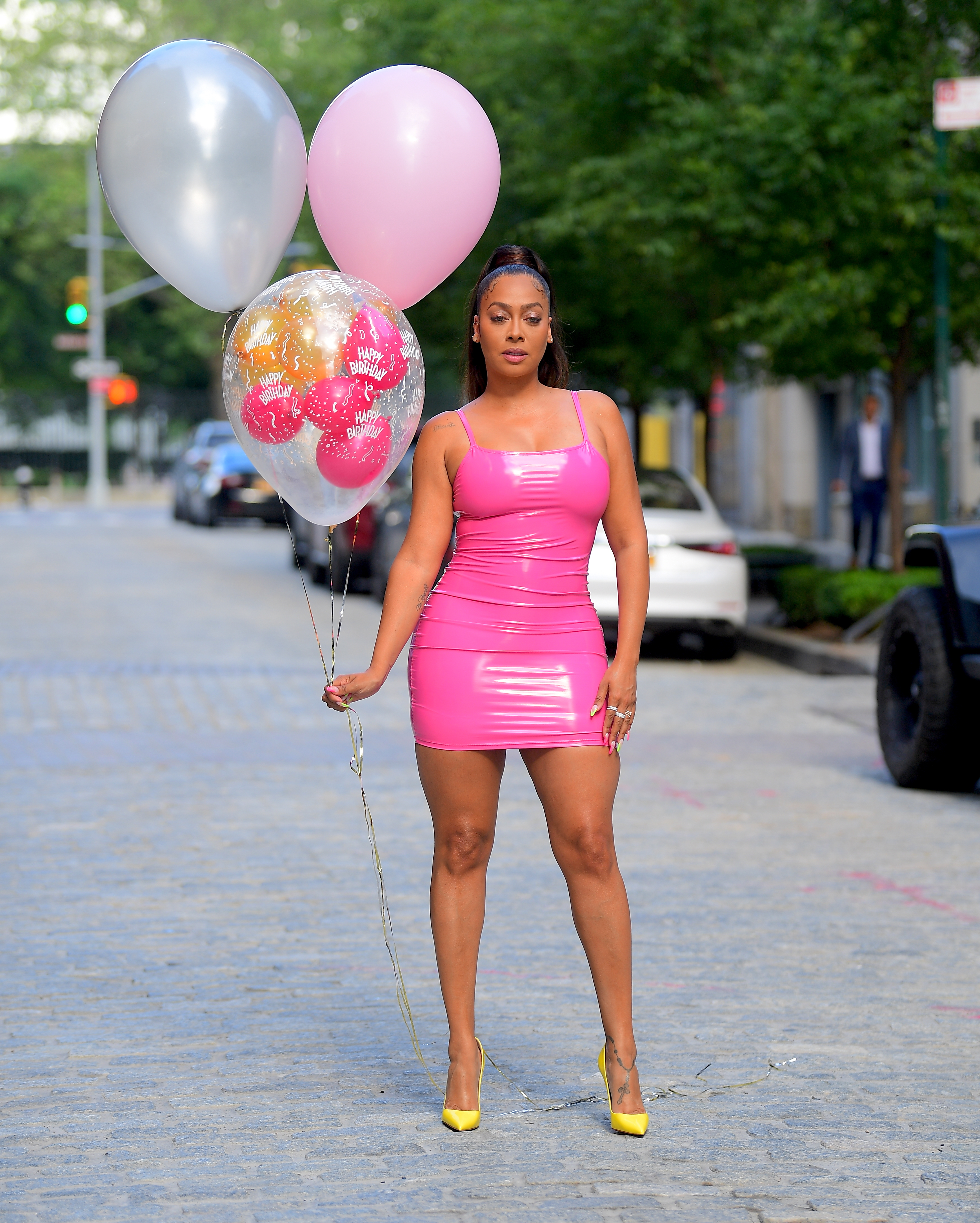 La La Anthony on her birthday