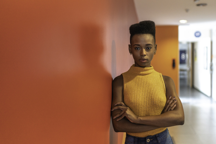 Portrait of African Young Businesswoman