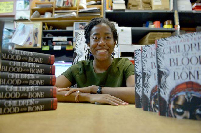 Book signing with author Elizabeth Acevedo and Tomi Adeyemi