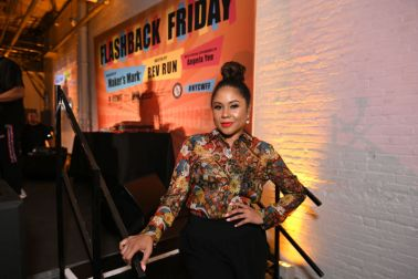 Angela Yee at the Food Network & Cooking Channel New York City Wine & Food Festival presented by Capital One - Flashback Friday presented by Maker's Mark hosted by Rev Run with special appearance by Angela Yee