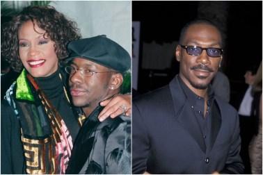 Whitney Houston, Bobby Brown and Eddie Murphy
