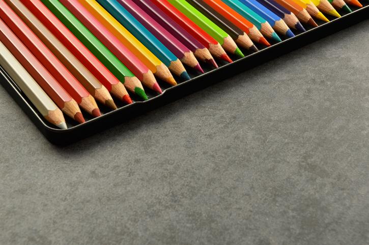 Colorful Pencils Arranged