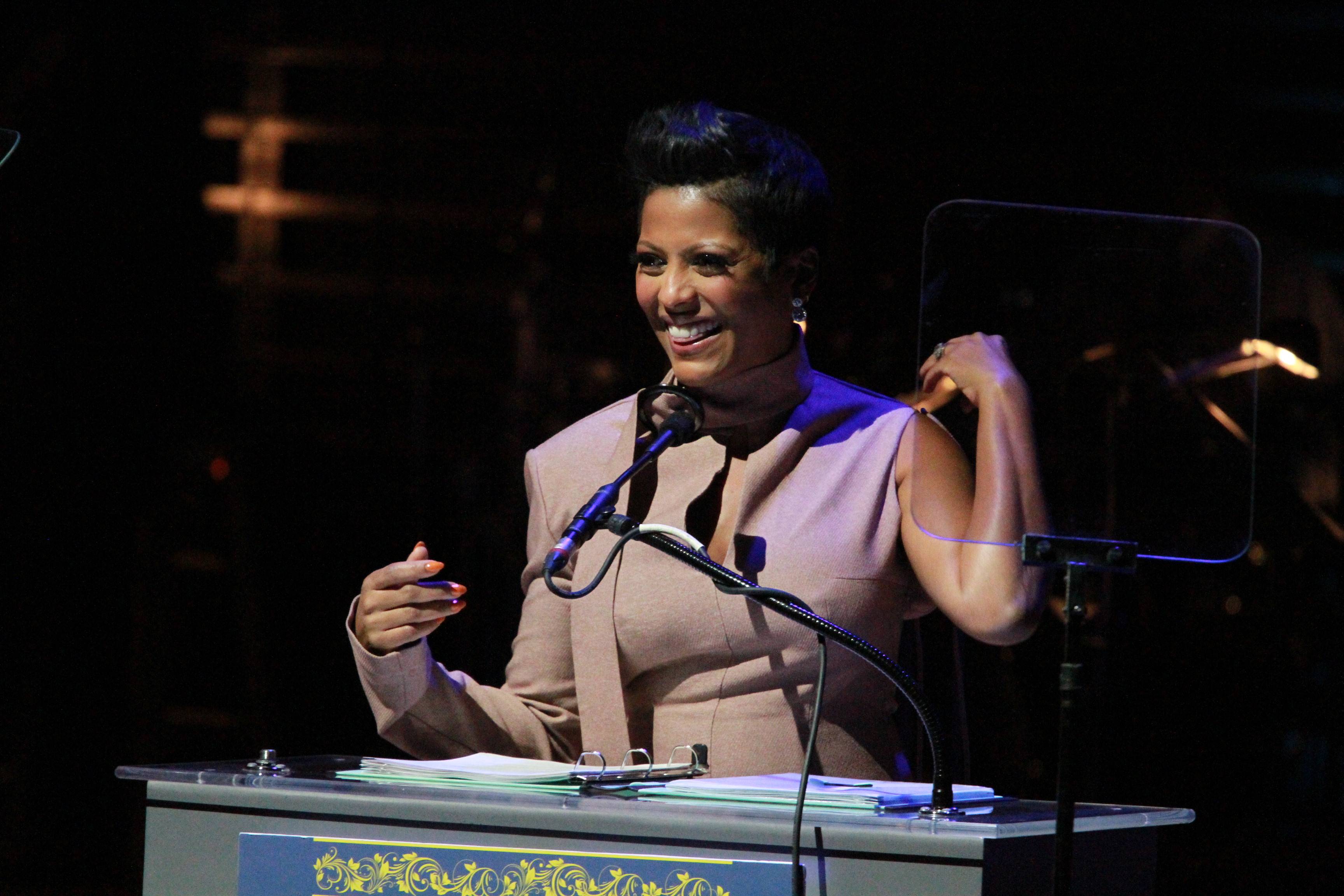Tamron Hall (Mistress of Ceremony) at the 2019 Marian Anderson awards where Kool and the Gang were honored at the Kimmel Center in Philadelphia