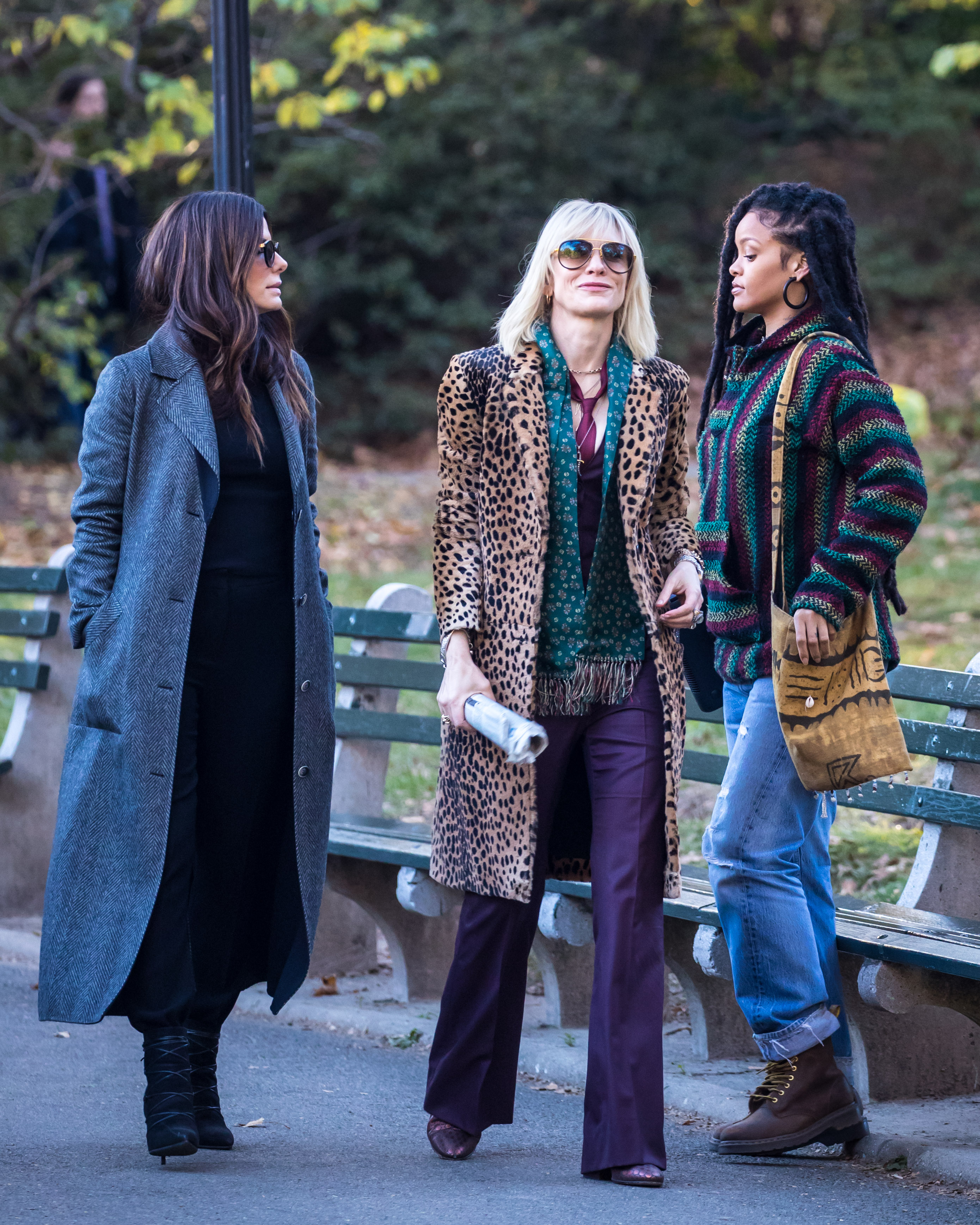 Rihanna, Sandra Bullock, and Cate Blanchett acting together in 'Ocean's Eight'