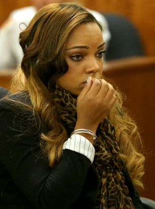 Shayanna Jenkins At A Pre-Trial Conference