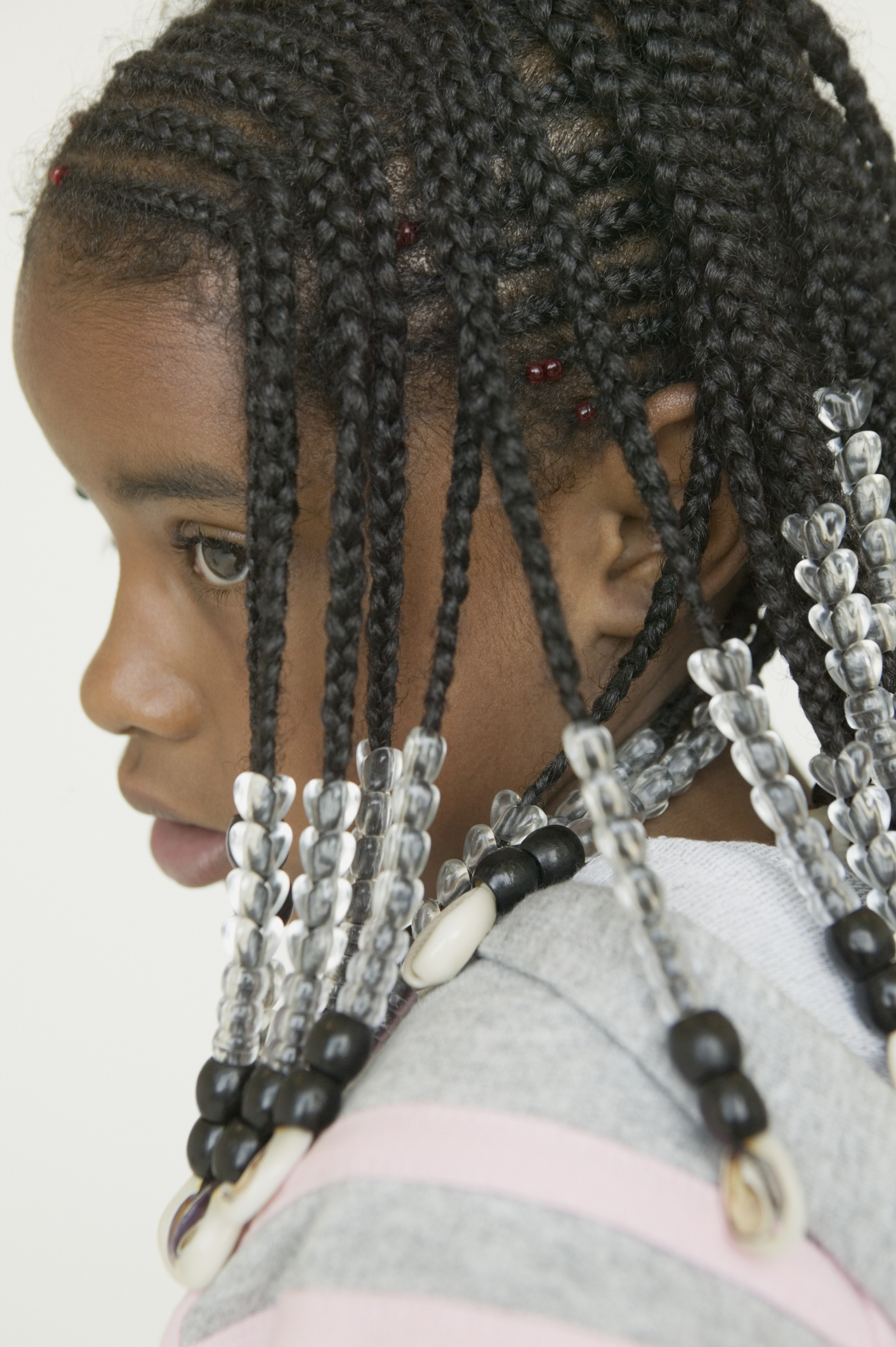 Close up of African girl with braids