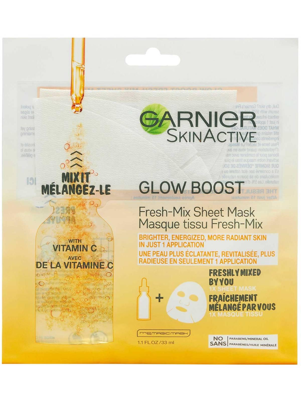 Garnier SkinActive Glow Boost Fresh-Mix Sheet Mask with Vitamin C