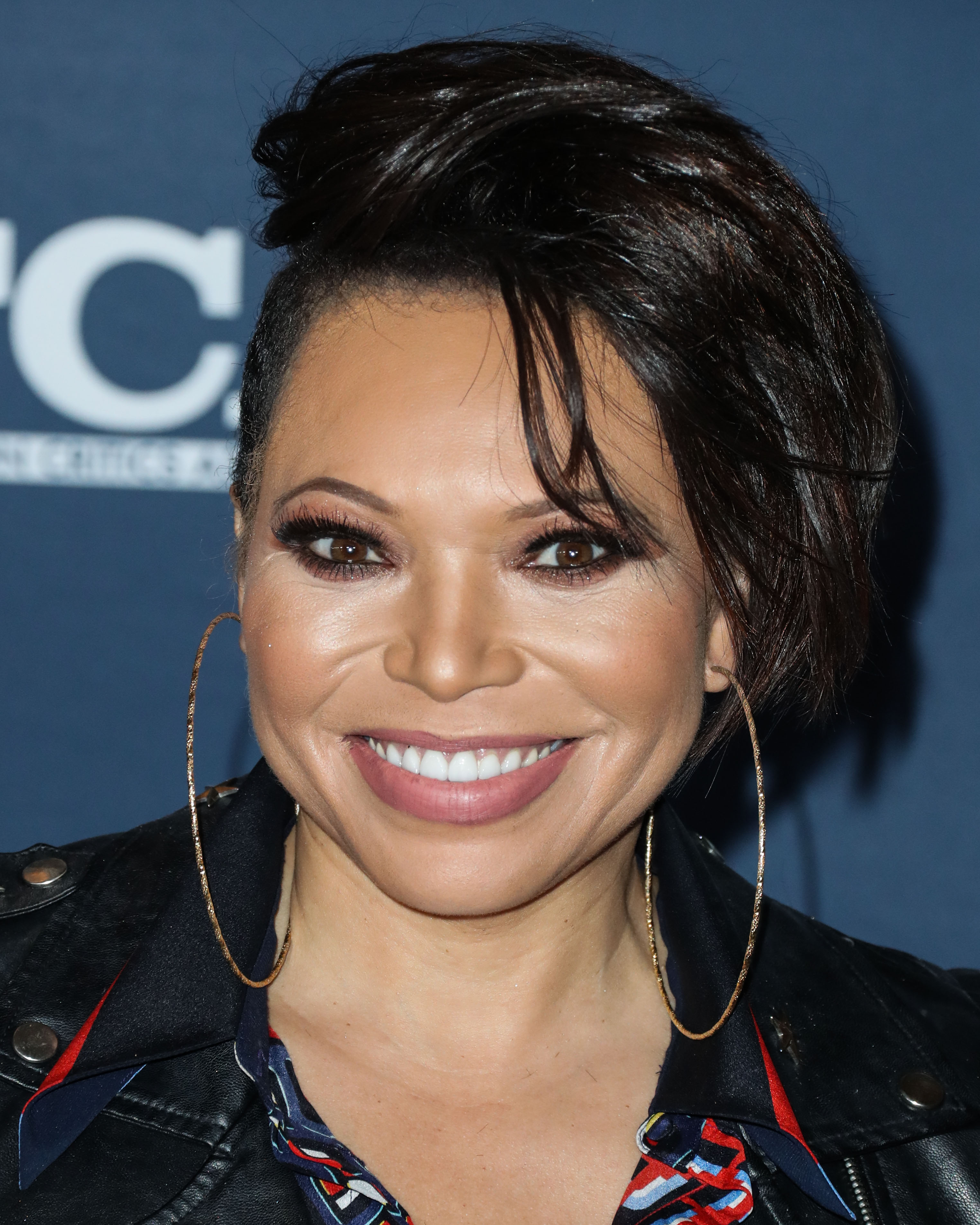 Tisha Campbell arrives at the FOX Winter TCA 2020 All-Star Party held at The Langham Huntington Hotel on January 7, 2020 in Pasadena, Los Angeles, California, United States.