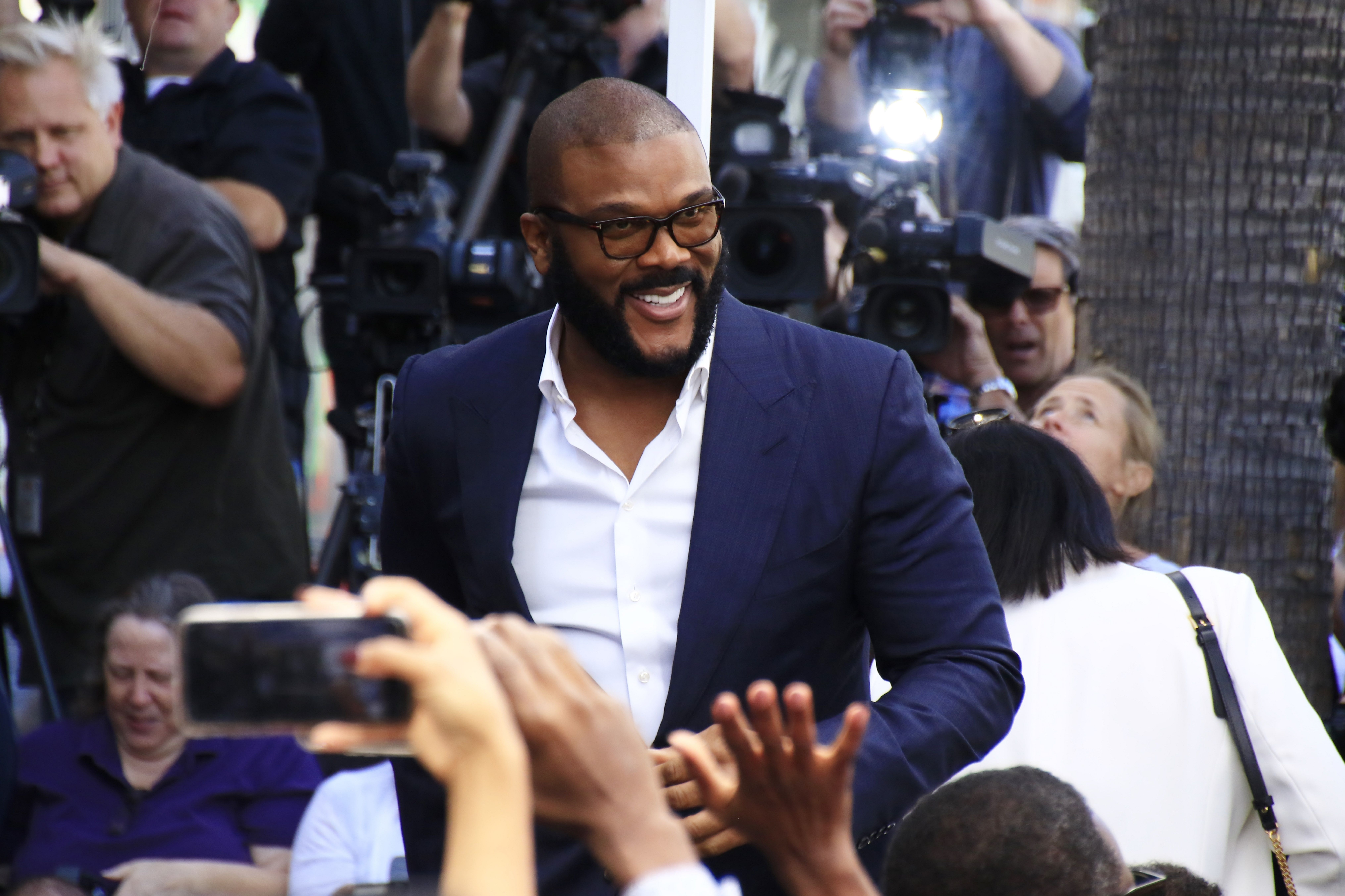Tyler Perry is awarded the 2675th star on the Hollywood Walk of Fame