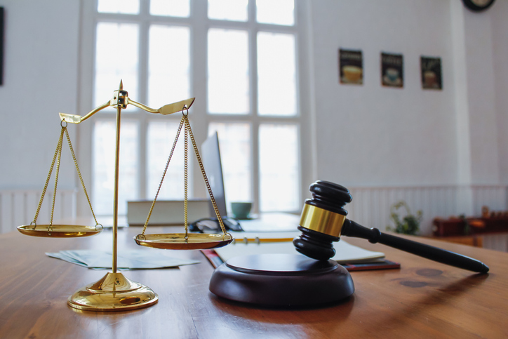 Gavel On Table In Court