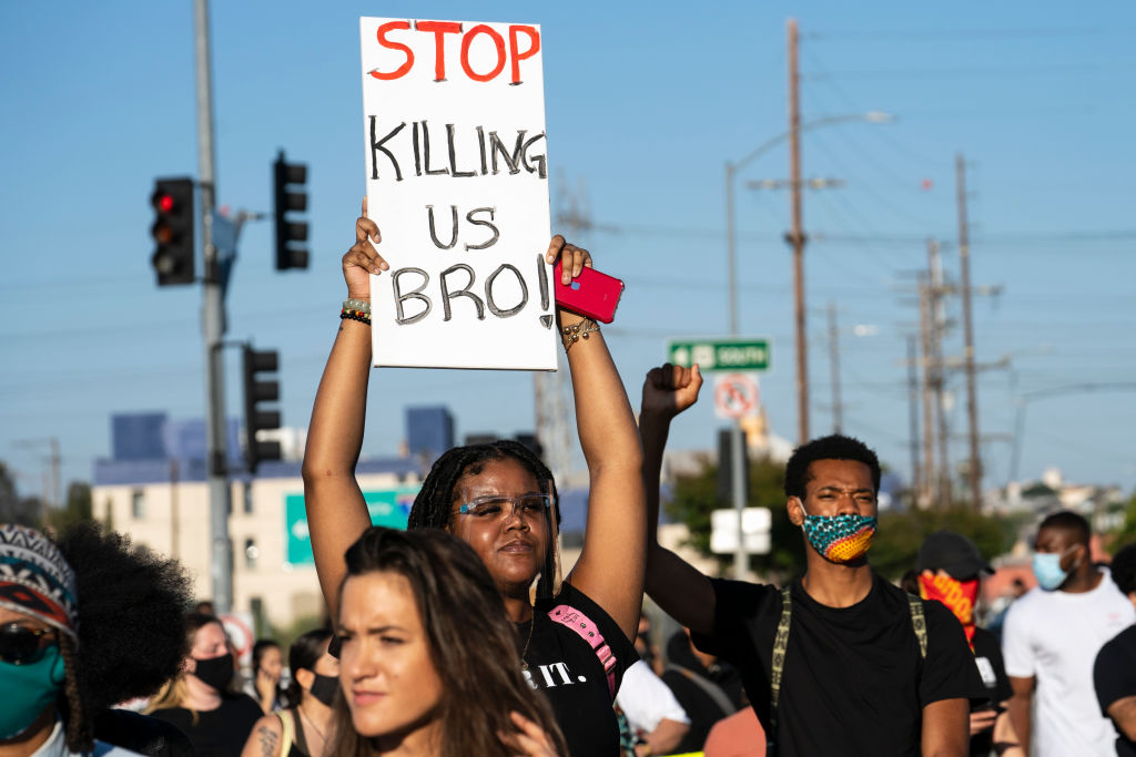 Police Brutality and George Floyd Killing Protest in Los Angeles, United States
