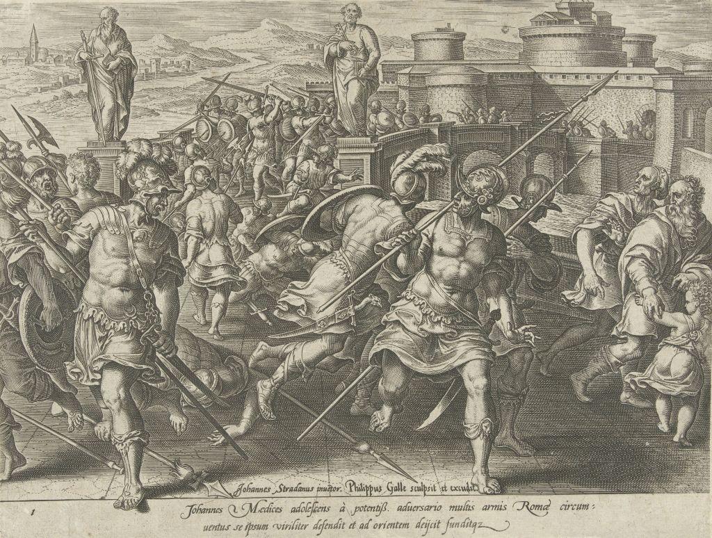 Giovanni de Medici surrounded in Rome