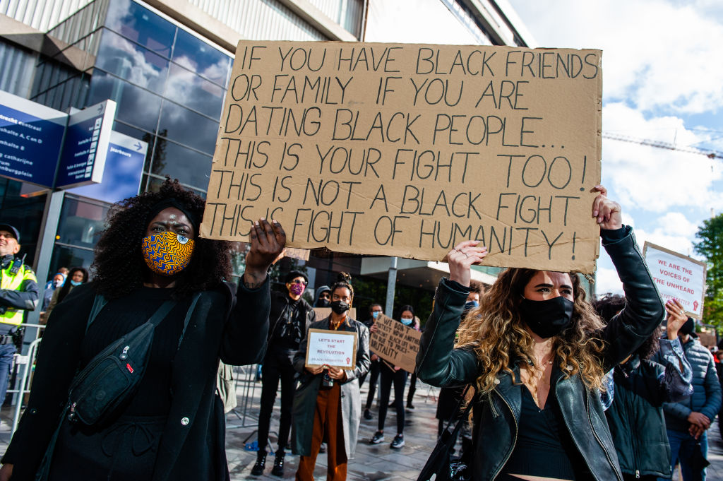 Protest Against Anti-black Violence In Netherlands