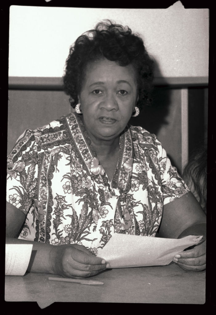Dorothy Height in Flowered Dress