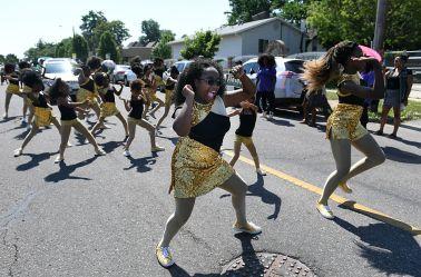 The 2016 Juneteenth Parade begins near Manuel High School in Denver.