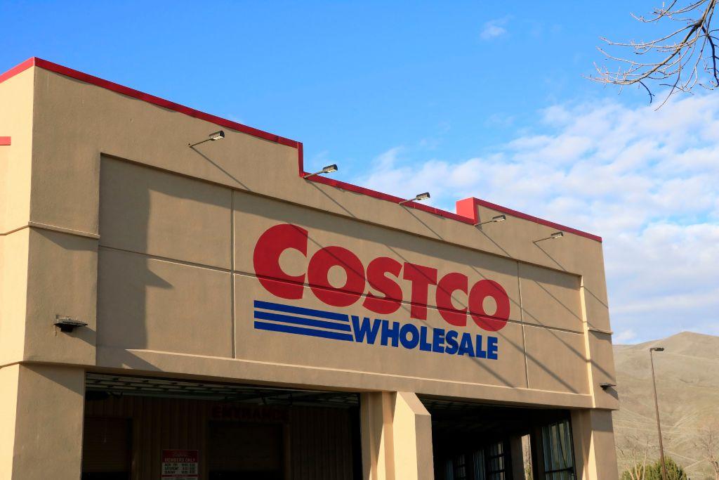 Costco company store entrance sign