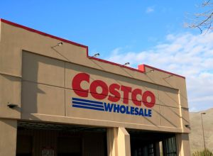 Costco company store entrance sign