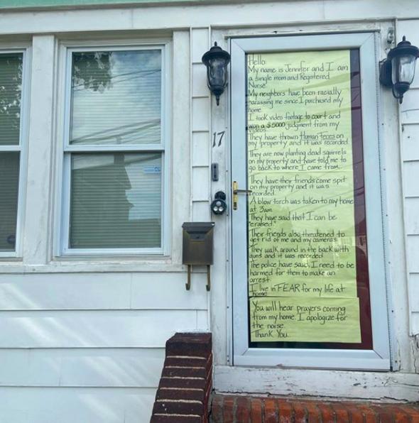 Sign of Jennifer McLeggan's front door