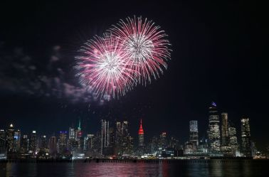 Fireworks Celebrate the Chinese New Year in New York City