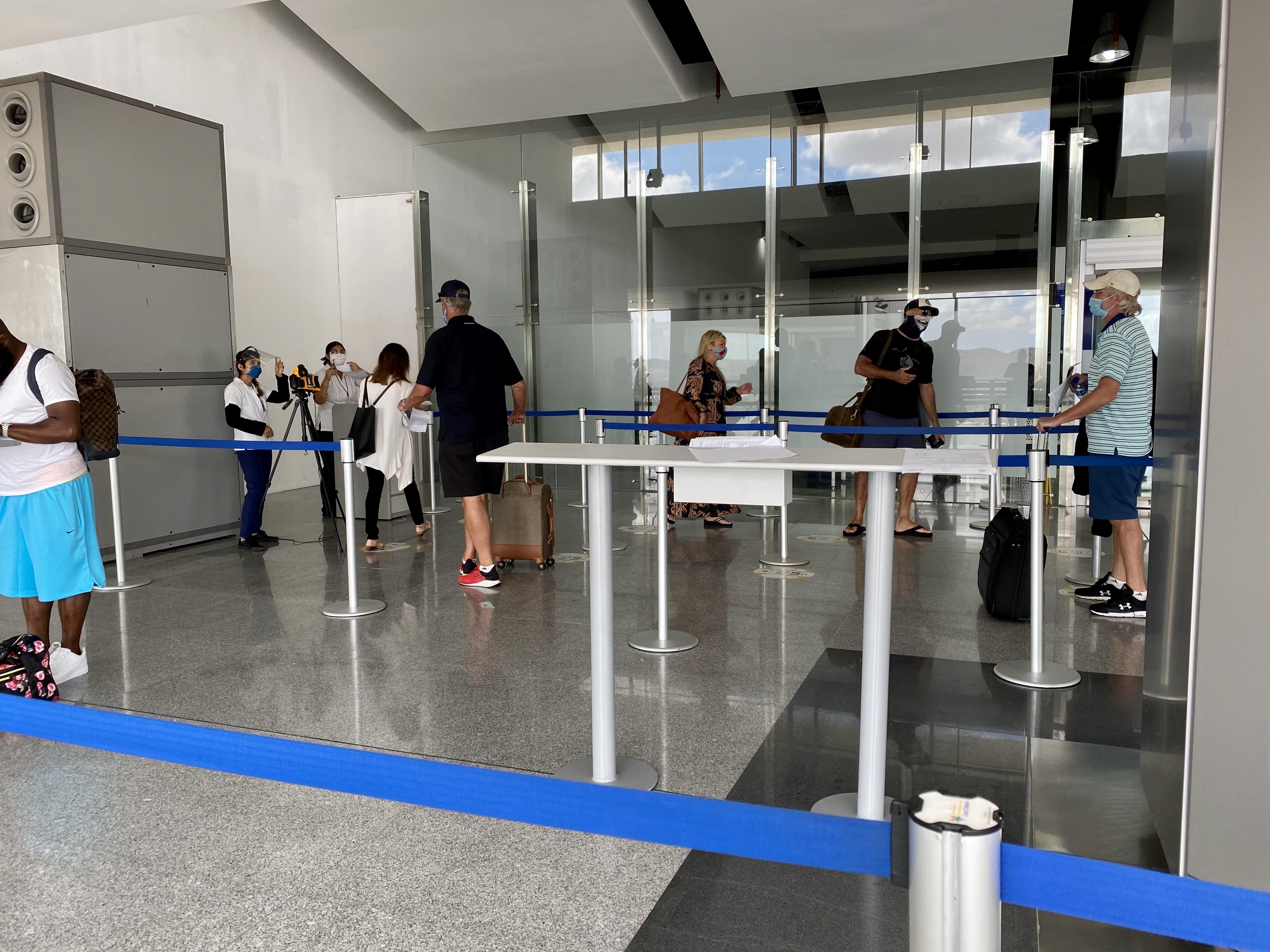 Los Cabo Airport Temp Check