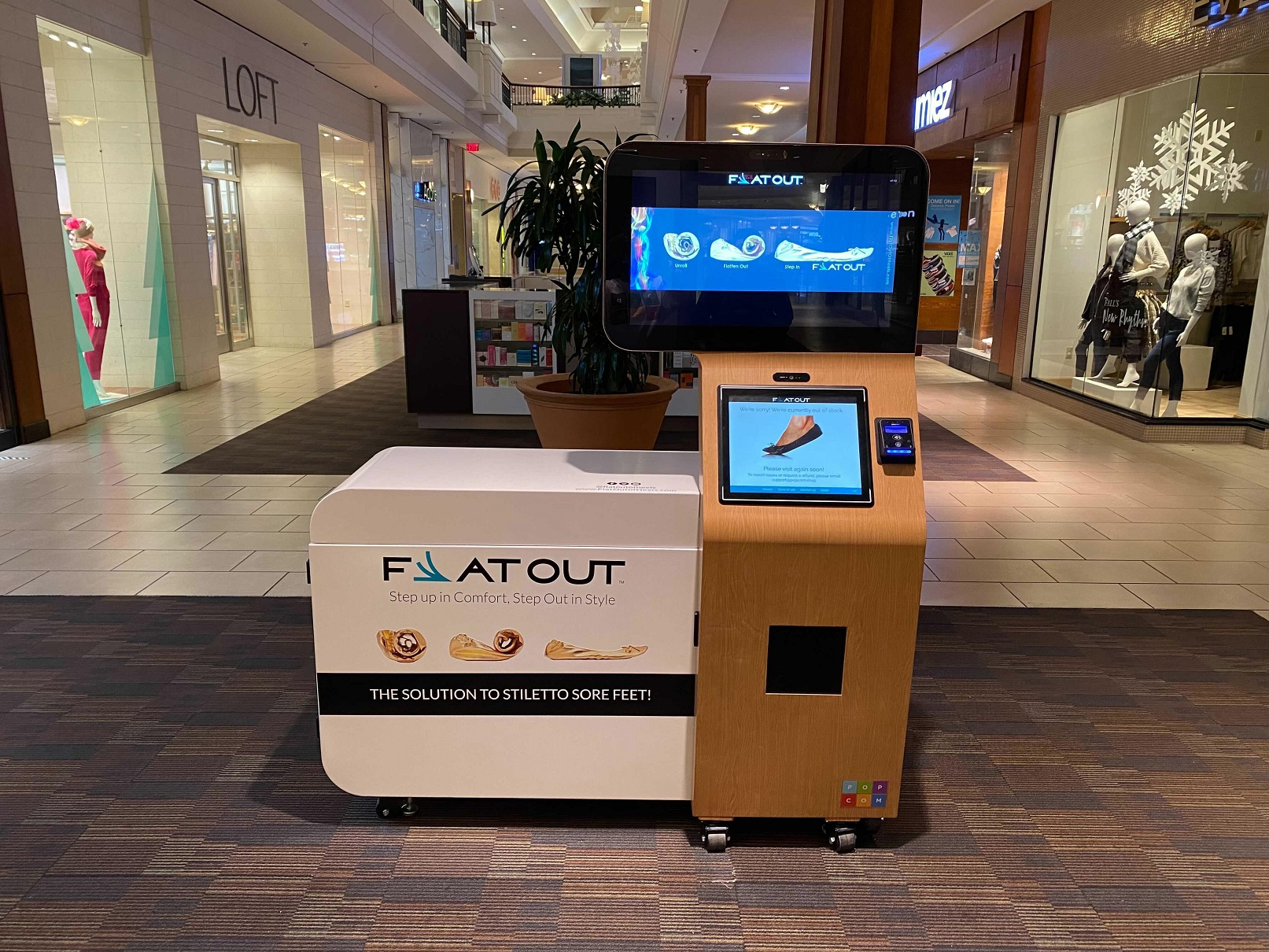 Flat Out of Heels Kiosk