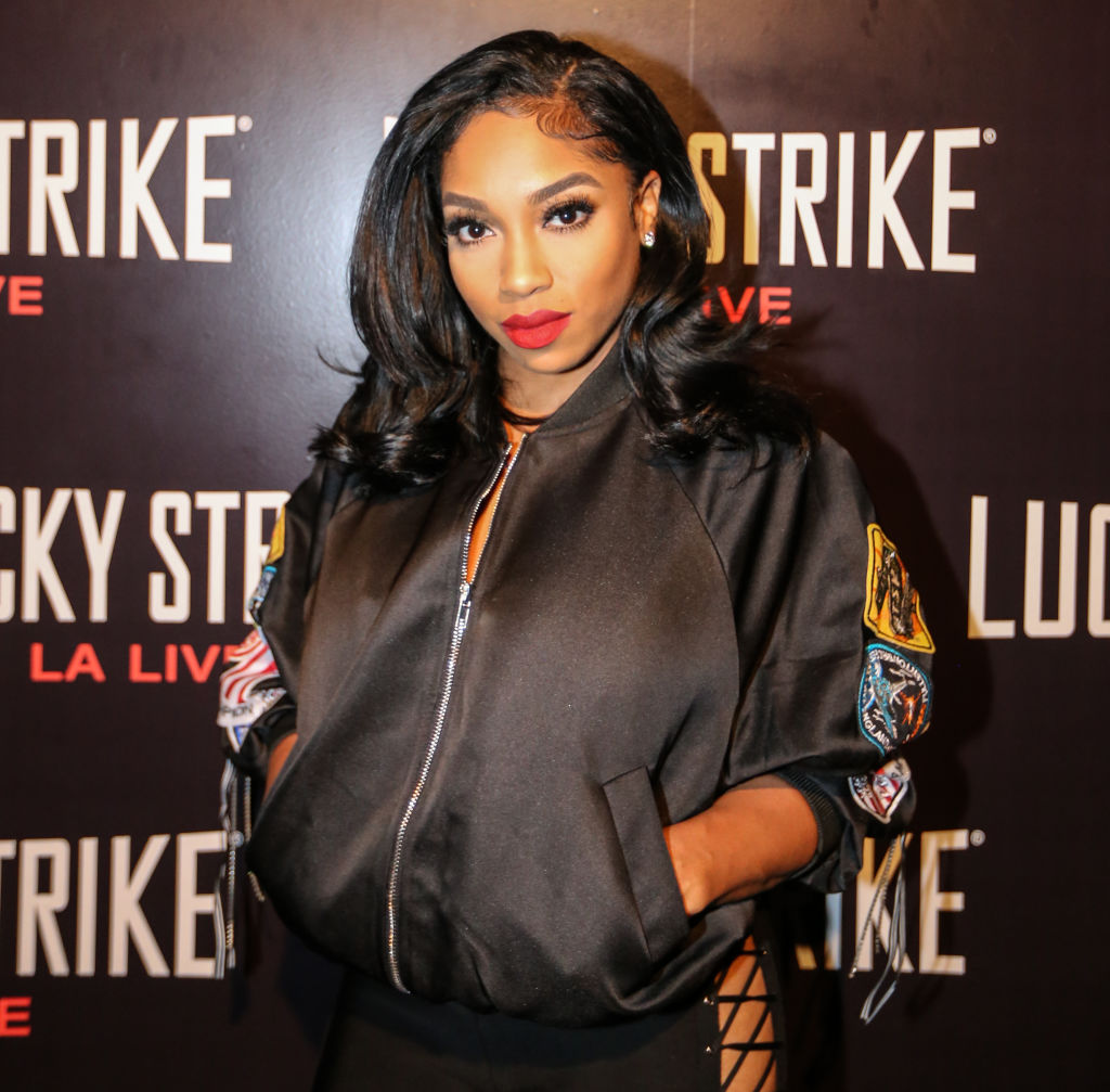 Brooke Valentine pictured at an event in 2017, refutes claims that she was messy on love and hip hop hollywood
