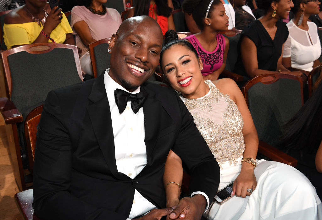 Tyrese and Samantha Lee Gibson at Black Girls Rock! 2017. The couple have split and she claims he cut her off financially.