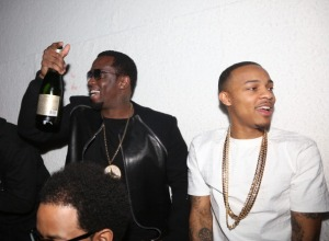 Diddy and Bow Wow at French Montana Pre-Grammy Party