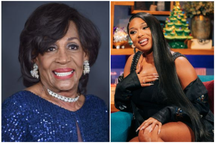Maxine Waters and Megan Thee Stallion