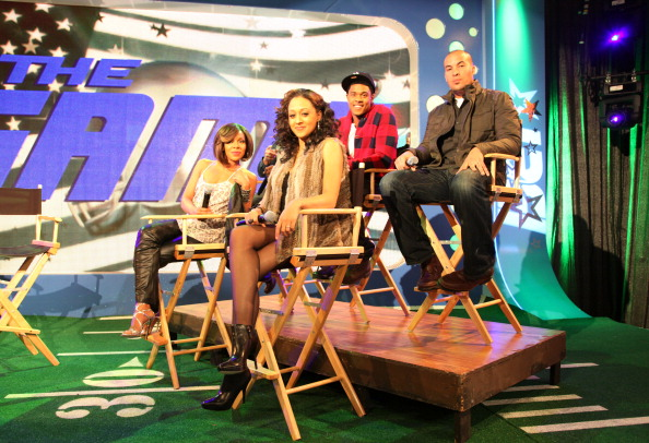 """Cast Of """"The Game"""" Visits BET's """"106 & Park"""" - January 11, 2011"""