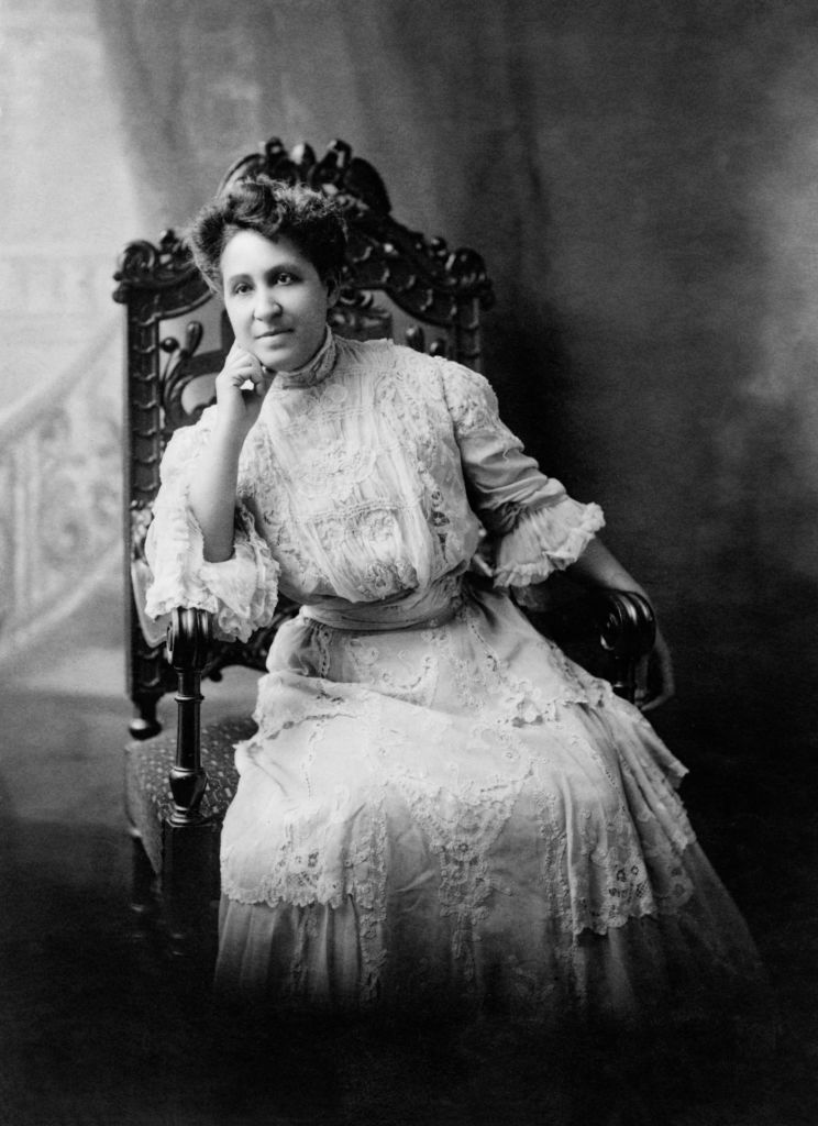 Mary Church Terrell, 1863-1954, one of the First African-American Women to Earn a College Degree, National Activist for Civil Rights and Suffrage, Seated Portrait